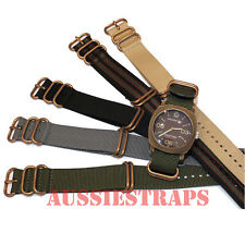 ZULU® 5 Ring Bronze Buckle military diver's Nylon watch strap band
