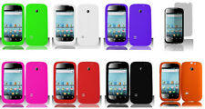 LCD Guard + Silicone Soft Phone Case for T-Mobile Prism 1 / Huawei Astro c8650