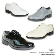 VANGELO New Men Dress Shoes TUX-1 Tuxedo For Formal Wedding & Prom Wrinkle Free