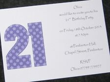 Personalised Birthday Party Invitations /Thank You Cards - Female/Male - ANY AGE