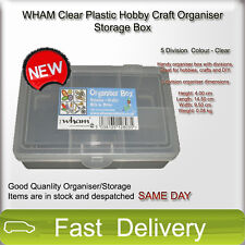 WHAM Clear Plastic Hobby Craft Organiser Storage Boxes Containers
