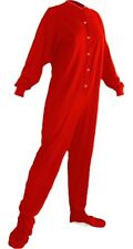 Big Feet Pjs - Red Jersey Knit - Adult Footed Pajamas - Onesie
