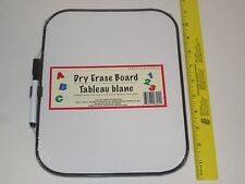 Dry Erase Board - Includes Marker w/ Eraser & Magnetic Strips to Attach Board
