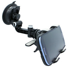 MULTI-ANGLE ROTATING CAR MOUNT WINDSHIELD WINDOW HOLDER DOCK FOR CELL PHONES
