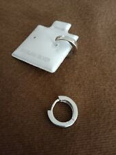 Mens Jewellery 925 Sterling Silver Plain Single or Pair Huggie Hoop Mens Earring