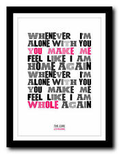 THE CURE - Lovesong - song lyric poster art typography print - 4 sizes
