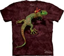 Peace Out Gecko Lizard Authentic The Mountain Adult T-Shirt