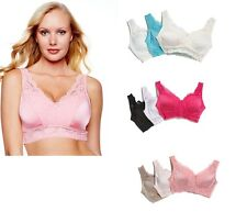 "Rhonda Shear ""Pin Up"" 3 Pack Lace Leisure Bra 230113 **PRICE CUTS**"