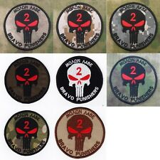 DEVGRU NSWDG SEAL TEAM BRAVO PUNISHERS Sparta Morale Embroidery  Patch