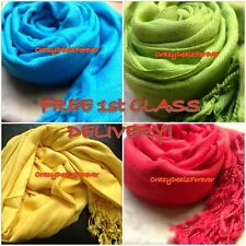 Pashmina Shawl Wrap Stole Scarf * FREE FIRST CLASS DELIVERY * (Buy 5 get 1 Free)