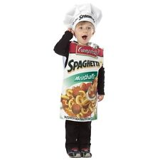 NEW! Campbells Soup Spaghettios Can Full Costume w/Chef Hat- Unisex- 3T-4T
