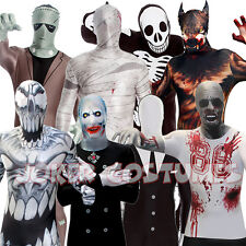 MORPHSUIT HALLOWEEN FANCY DRESS COSTUMES ALL SIZES SKINS ZENTAI BODYSUITS NEW