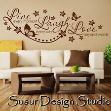 Wall Stickers Quotes Live Laugh Love Wall Art  Room Decal Mural Transfer SVIL05