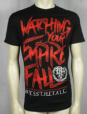 Licensed BLESS THE FALL Lyric Stack Logo Black Slim Fit T-Shirt S M L XL 2XL NEW