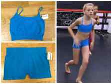 NEW Turquoise Seamless Bra Top & Boy Shorts- As seen on Dance Moms Chloe! OSFA