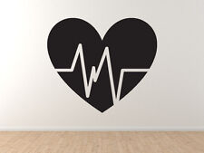 Fitness Gym Art #4 - Heart Rate Health Diet Exercise Support -Vinyl Wall Decal