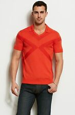 Armani Exchange A|X Geo Striped Logo Polo Sweater Shirt/Top - Firegrow