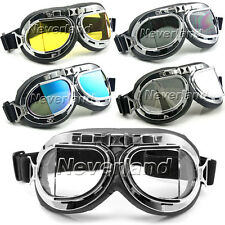 Motorcycle Bike Scooter Aviator Pilot Cruiser Goggles Eye Wear Available 5 Color