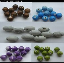 *CLEARANCE*20 Acrylic Imitation Polymer Clay Beads 14mm 5 Colours *CLEARANCE*
