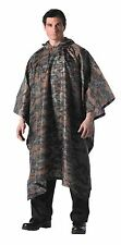 Rothco Rip-Stop GI Plus Enhanced US Military Hunting Style Rain Coat Poncho NEW