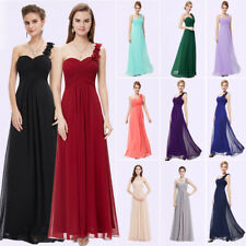 Elegant One Shoulder Long Bridesmaid Formal  Evening Dress 09768 Domestic Pick