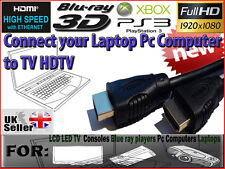 HDMI to HDMI Cable Lead Wire - Connect Computer PC Laptop to TV DVD TFT LCD