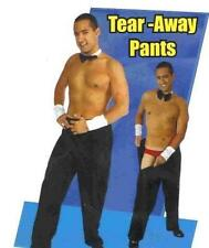 ADULT MENS TEAR AWAY RIP OFF MALE STRIPPER BLACK COSTUME PANTS
