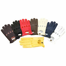 NEW RETRO STYLE QUALITY SOFT LEATHER MENS DRIVING GLOVES UNLINED CHAUFFEUR N-507
