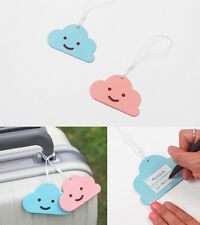 Gooroom Nametag - Classy DS Cloud Shape Travel Luggage Name Tag Travel Accessory