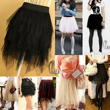 TULLE TUTU TIER LAYERED DANCE SKIRT DRESS MULTIPLE STYLE DR004