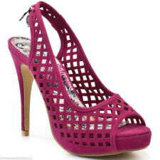 WOMENS IRON FIST HIGH & DRY PLATFORM PEEP TOE HIGH HEEL SHOES PINK