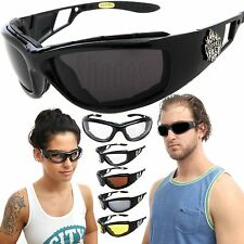 Chopper Wind Resistant Extreme Sports Sunglasses Motorcycle Riding Biker Glasses