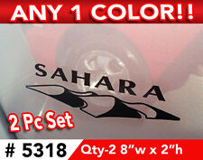 "2PC SET JEEP WRANGLER "" SAHARA ""  REPLACEMENT DECAL STICKER 8""wx2""h Any 1 Color"