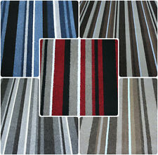 Striped Felt Backed 4m Carpet Any Room Any Size 5 Colours Good Quality Stripe!!