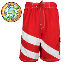 Men's Swim Trunk Board Shorts look Sandole trunk Short Swimwear Speed RED
