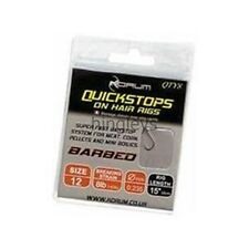 Korum Quickstops on Hair Rigs Barbed 15inch  Carp,Coarse Fishing