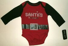 NEW  BY BABY GLAM ** SANTAS FAVORITE ONESIES ** SIZES: NB OR 3 MONTHS
