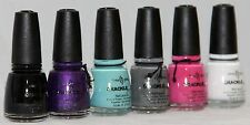 China Glaze Crackle Glaze Nail Polish 0.5 oz choose your own color