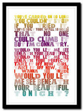 LABRINTH - Beneath Your Beautiful - lyric poster typography art print - 4 sizes