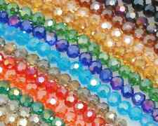 50/150/300/450pcs Crystal Glass 6 mm Faceted AB Rondelle Beads 8colors Wholesale