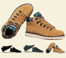 winter Mens Ankle Boots Warm suede sneaker rivet high top casual Military Shoes