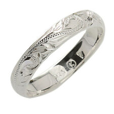 4mm Hawaiian Scroll Solid Sterling Silver Ring Hawaiian Jewelry SR1141