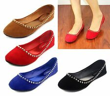 gloria-33 New Fashion Comfort Ballet Slip On Casual Office Women's Flats Shoes