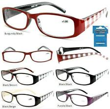 Cheetah Checkered Temple Fashion Plastic Reading Glasses + FREE GIFT!