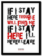 THE NATIONAL - Sea Of Love ❤ song lyric poster typography art print - 4 sizes
