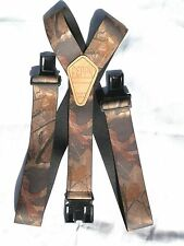 "2"" Perry Style Hardwood Green and Hardwood Camo Suspenders"