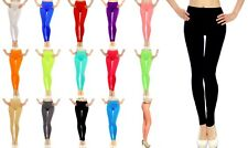 Lot Women Full Length Leggings Pants Skinny Stockings Opaque Colorful One Size
