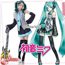 Vocaloid Miku Hatsune Japan Anime Cosplay Costume 10 Pcs Full Set