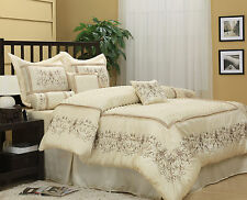 Nanshing Vivian Comforter Set Quilted 7 piece Luxury Off White King/Queen