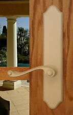 FPL Piedmont Privacy Door Lever Set & Back Plates; Bedroom and Bathroom Doors